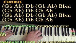 corvette chords corvette prince piano lesson chord chart db bbm gb