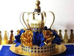 crown centerpieces crown royal prince baby shower centerpiece boys royal blue