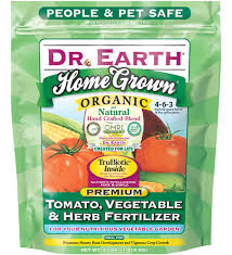 tomato vegetable herb fertilizer by dr earth planet natural