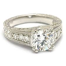 2 engagement rings sterling silver 2 carat cz solitaire engagement ring
