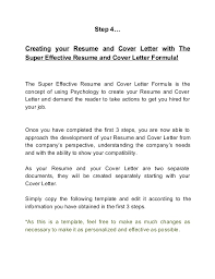 are cover letters necessary 3 the effective resume and cover letter formula