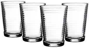 amazon com palais glassware striped collection striped clear