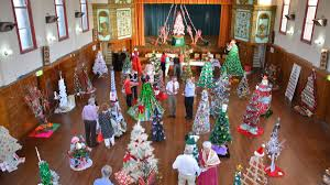 photos red cross christmas tree competition in full swing glen