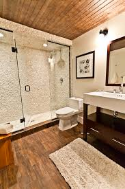 Transitional Bathroom Lighting Ceramic Tile Wood With Wood Flooring Bathroom Contemporary And