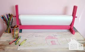 white paper rolls for tables ana white build a craft paper roll holder free and easy diy