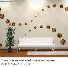 mu dots leopard dv004 jpg reusable custom set leopard print circle polka dot wall decals