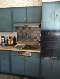 colored kitchen cabinets for sale burnt blue youngstown steel kitchen cabinets what a lovely