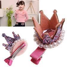 baby hair clip hair boutique baby girl princess pearl crown hair