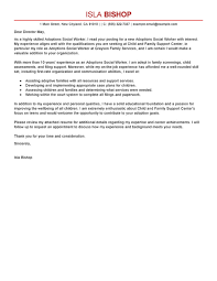 sample cover letter for social worker the example of cover letter