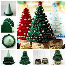 ribbon christmas tree ideas diy ribbon kanzashi christmas tree