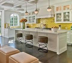 backsplash for yellow kitchen yellow glass subway tile subway tiles kitchen backsplash and stools