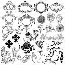 ornate damask frame clipart damask ornament clipart wedding
