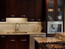 espresso kitchen cabinets and glass tile backsplash on pinterest