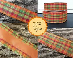 fall ribbon fall spice plaid ribbon spices fall creations