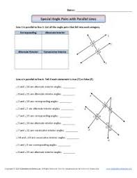 parallel lines and transversals worksheet using properties