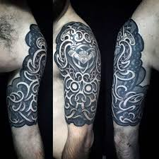 75 half sleeve tribal tattoos for masculine design ideas