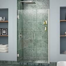 dreamline unidoor 40 41 in width frameless hinged shower door 3
