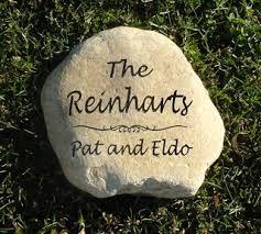 personalized garden stones personalized memorial garden stones and engraved river rock garden