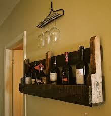 diy wood wine glass rack under mounted on kitchen cabinet design