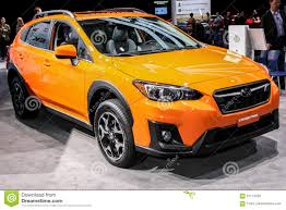 subaru orange crosstrek subaru crosstrek 2018 shown at the new york international auto s