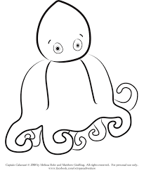 printable octopus coloring pages the inky octopus