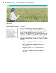 chapter 7 sustainability measures checklist a guidebook for