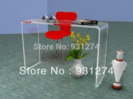 bureau plexi watetfall acrylic vanity console table lucite corner desk in console