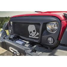 jeep wrangler front grill rugged ridge 12034 23 spartan grille insert skull 07 16 jeep