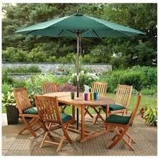 Wooden Patio Dining Set - patio awesome umbrella patio table umbrella patio table lowes
