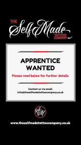apprentice wanted the selfmade tattoo company