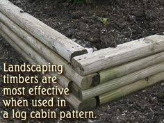 finish off flower beds in style with landscape timbers landscape