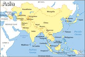 asia map and countries a map of asia with countries and capitals ambear me
