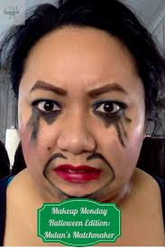 makeup monday halloween edition mulan u0027s matchmaker cassie wears