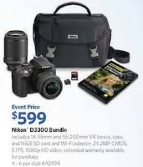best black friday camera deals nikon d3300 bundle costco digital slr camera black friday 2014