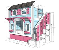 bedroom sketch of bunk beds with stairs in castle design for