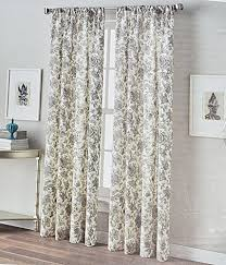 Yellow And Grey Window Curtains Home Window Curtains Jacobean Garden Flowers 50 By 96 Inch