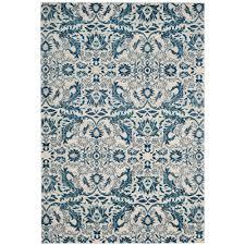 Blue Area Rugs Safavieh Evoke Ivory Blue 8 Ft X 10 Ft Area Rug Evk238c 8 The