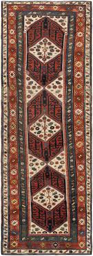antique caucasian runner rug 46425 by nazmiyal