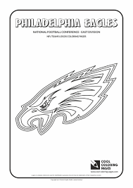 philadelphia eagles nfl american football teams logos coloring