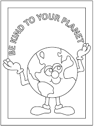 earth day coloring pages be kind to earth coloringstar