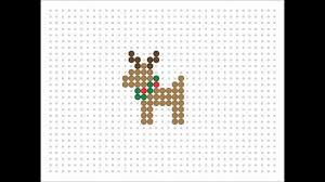 hama bead reindeer christmas series 9 youtube
