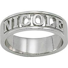 silver name rings personalized sterling silver sculpted cut out name ring walmart