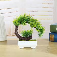 artificial decorative trees for the home new creative plastic flower bonsai tree plant miniature pot