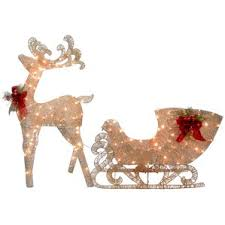 outdoor reindeer decorations lighted decor