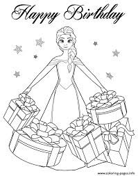 beautiful elsa gifts colouring coloring pages printable