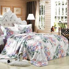 19 momme seamless printed mulberry silk duvet cover panda silk