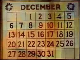 circled date in a calendar 25th of december day zoom