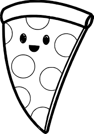 very cute pizza coloring page wecoloringpage