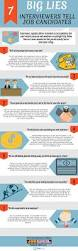 the 7 biggest lies recruiters tell job candidates infographic
