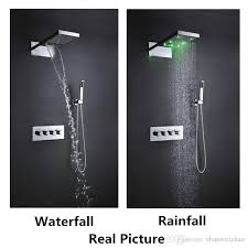 Bathroom Faucet And Shower Sets Wall Mounted Multi Function Luxury Shower Head Set Hydro Power